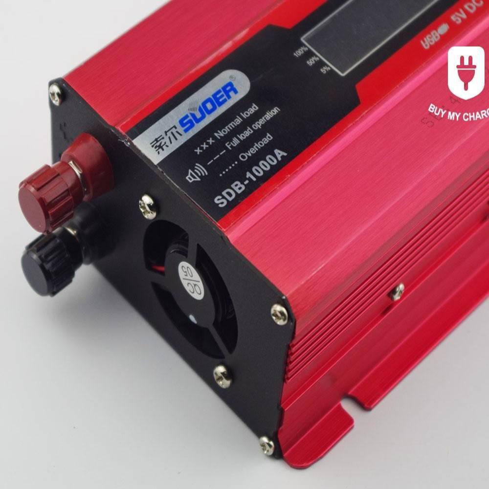 Αντιστροφέας - Inverter 1000w Τροποποιημένο Ημίτονο 12V Suoer
