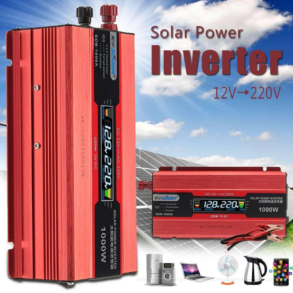 Αντιστροφέας – Inverter 1000w Τροποποιημένο Ημίτονο 12V Suoer - Sfyri.gr - Ηλεκτρονικό Πολυκατάστημα