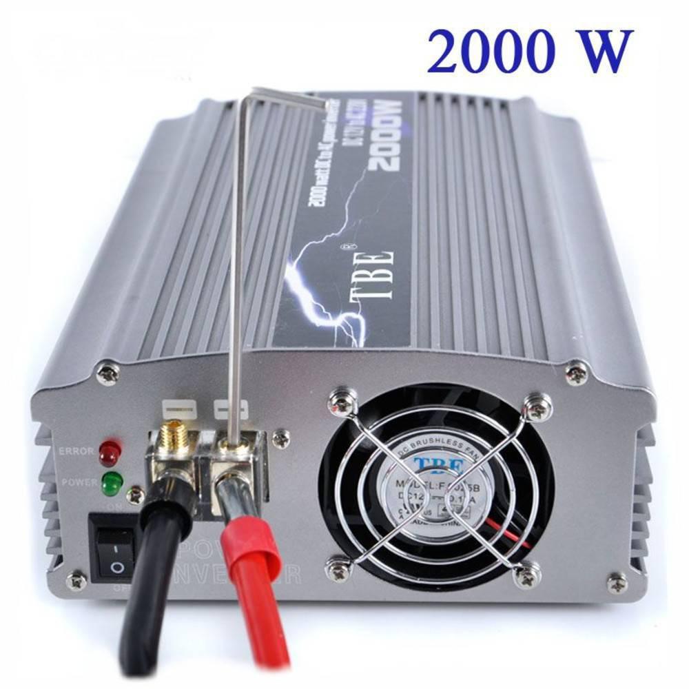 Αντιστροφέας - Inverter 2000W Τροποποιημένο Ημίτονο 12V TBE