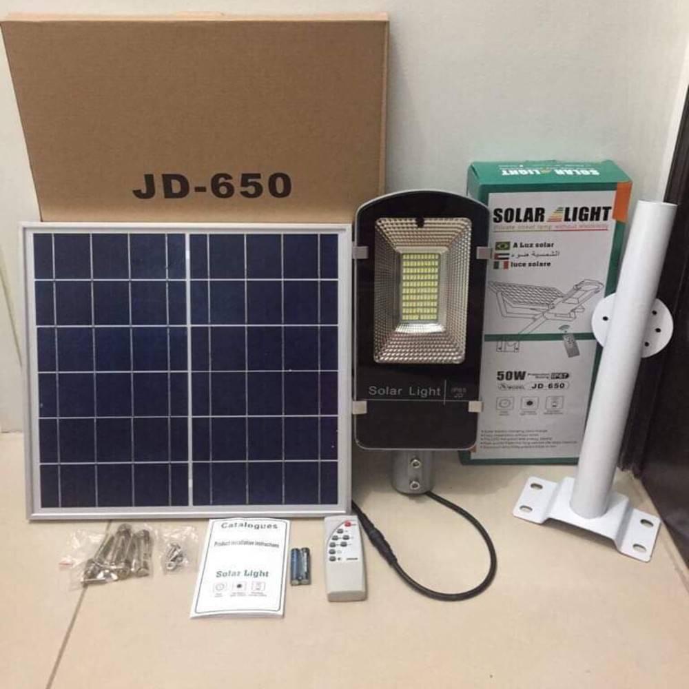 Ηλιακό Φωτιστικό Δρόμου 50W Led JD-650