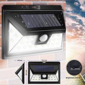 Ηλιακό Φωτιστικό Κήπου Led με Ανιχνευτή Κίνησης FOYU SJ19-9 - Sfyri.gr - Ηλεκτρονικό Πολυκατάστημα