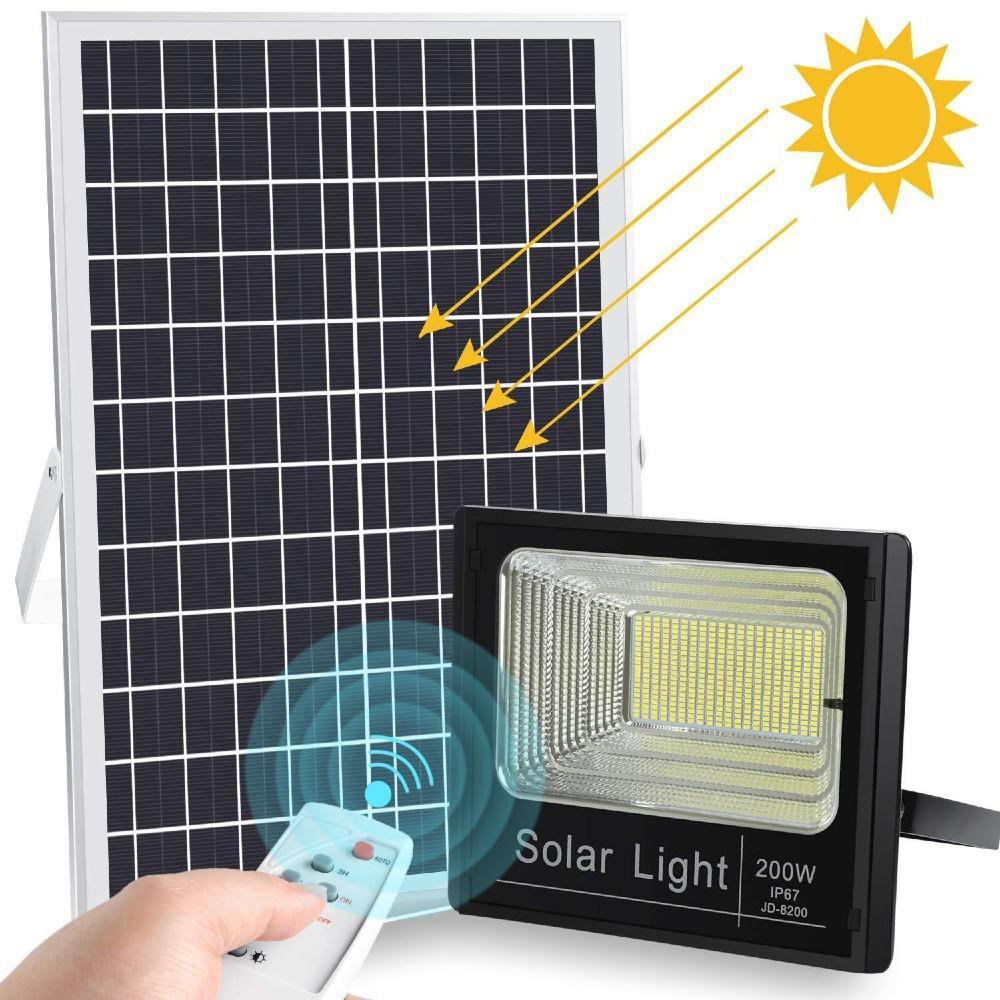 Ηλιακός Προβολέας 200W Led JD-8200