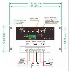 Ρυθμιστής Φόρτισης 10Ah CMTP2 - Sfyri.gr - Ηλεκτρονικό Πολυκατάστημα