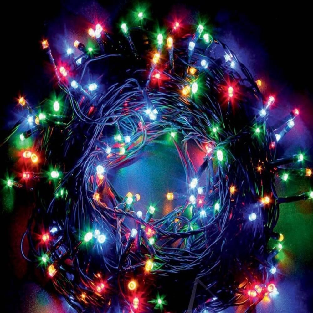 Χριστουγεννιάτικα Λαμπάκια με 100 Led 9m RGB