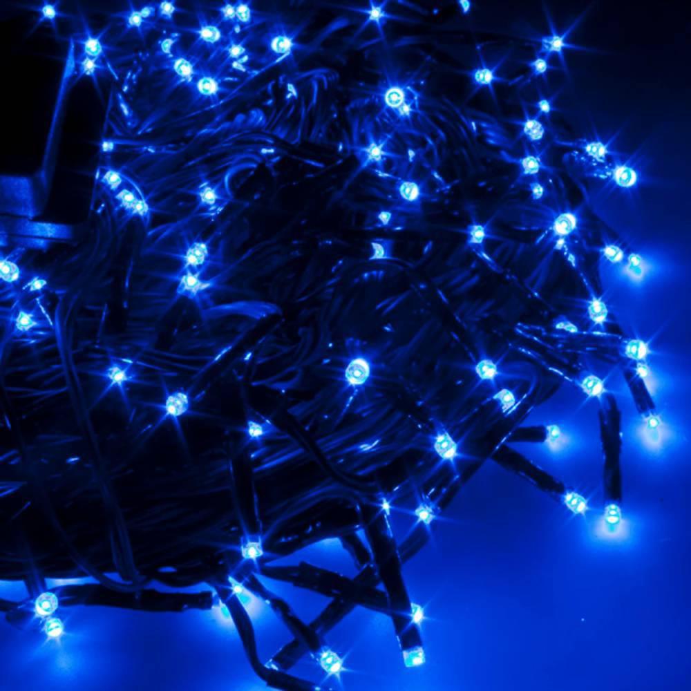 Χριστουγεννιάτικα Λαμπάκια με 100 Led Αδιάβροχα 8m Μπλε