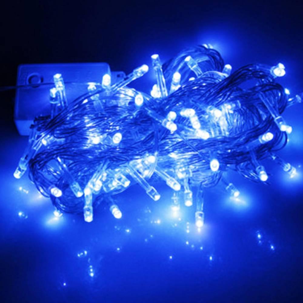 Χριστουγεννιάτικα Λαμπάκια με 100 Led Αδιάβροχα 8m Μπλε - Sfyri.gr - Ηλεκτρονικό Πολυκατάστημα