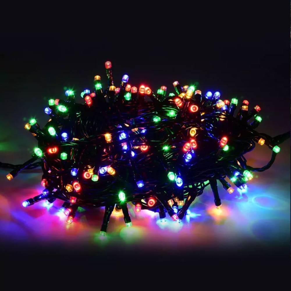 Χριστουγεννιάτικα Λαμπάκια με 100 Led Αδιάβροχα 8m RGB - Sfyri.gr - Ηλεκτρονικό Πολυκατάστημα