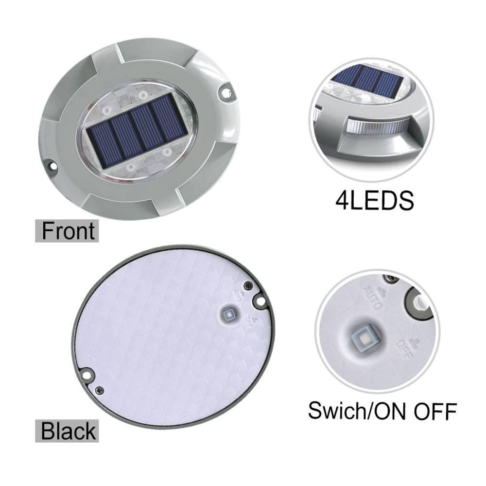 Ηλιακό Φωτιστικό Αλουμινίου Δαπέδου με Αισθητήρα Φωτός 4τμχ - Sfyri.gr - Ηλεκτρονικό Πολυκατάστημα