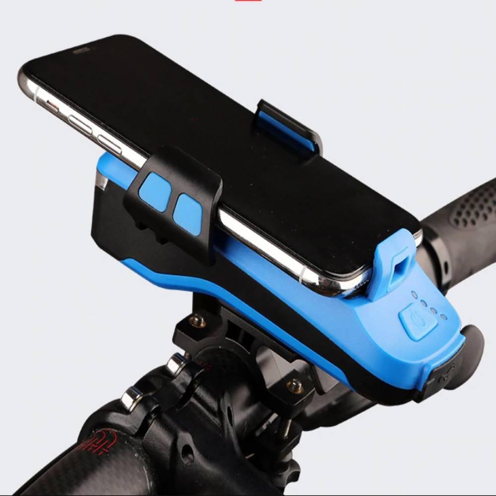 Led Φως Ποδηλάτου 550Lumens, Κόρνα 130dB και Βάση Κινητού - Sfyri.gr - Ηλεκτρονικό Πολυκατάστημα
