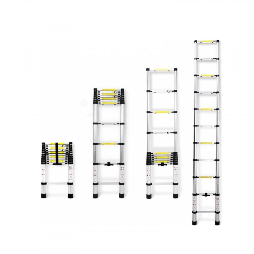 Τηλεσκοπική Σκάλα Αλουμινίου 10 σκαλιών 2.9Μ TL29 OEM - Sfyri.gr - Ηλεκτρονικό Πολυκατάστημα