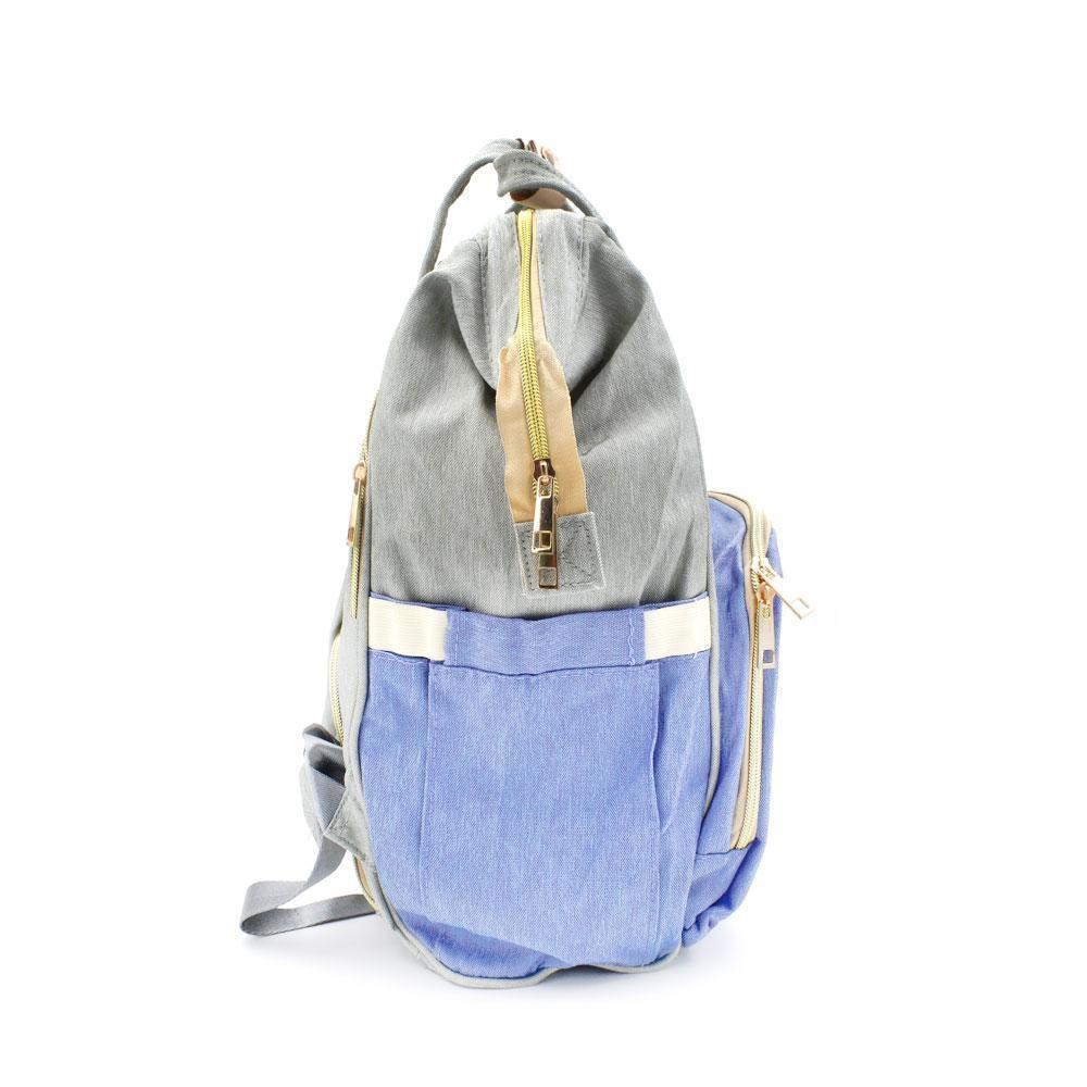 Τσάντα Μωρού Πλάτης Mommy Bag AiFi Γαλάζια - Γκρι Ριγέ - Sfyri.gr - Ηλεκτρονικό Πολυκατάστημα