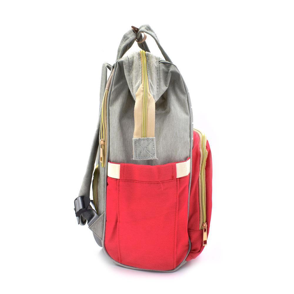 Τσάντα Μωρού Πλάτης Mommy Bag AiFi Κόκκινη - Γκρι Ριγέ - Sfyri.gr - Ηλεκτρονικό Πολυκατάστημα