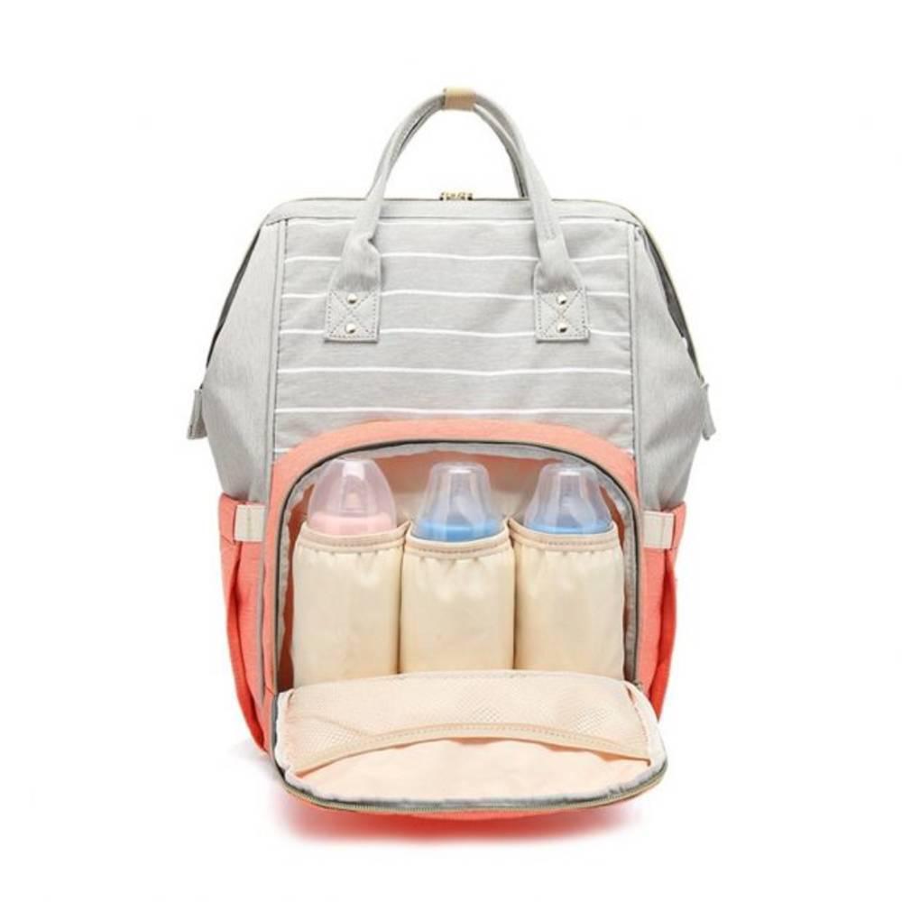 Τσάντα Μωρού Πλάτης Mommy Bag AiFi - Πράσινο Ριγέ - Sfyri.gr - Ηλεκτρονικό Πολυκατάστημα