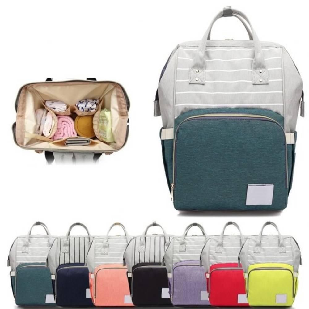 Τσάντα Μωρού Πλάτης Mommy Bag AiFi - Πράσινο Ριγέ