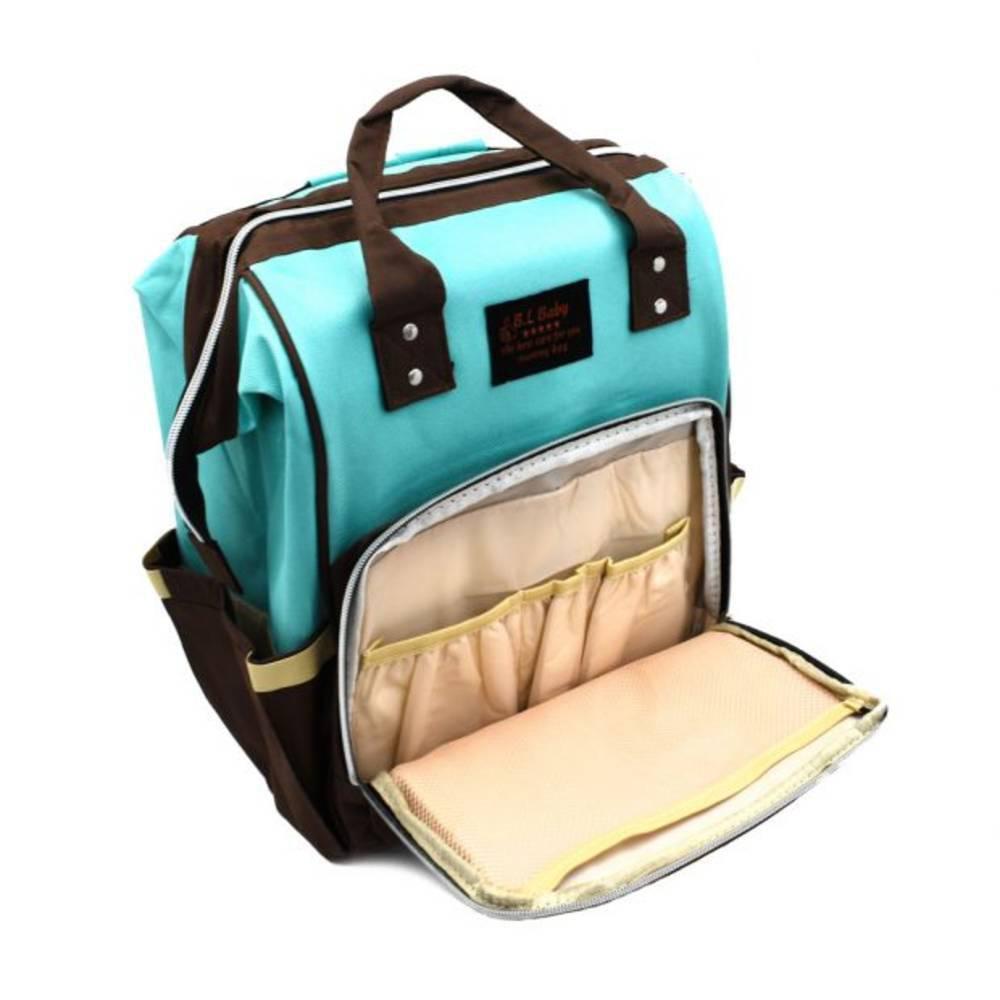 Τσάντα Μωρού Πλάτης Mommy Bag B.L. Baby – Κυανό Καφέ