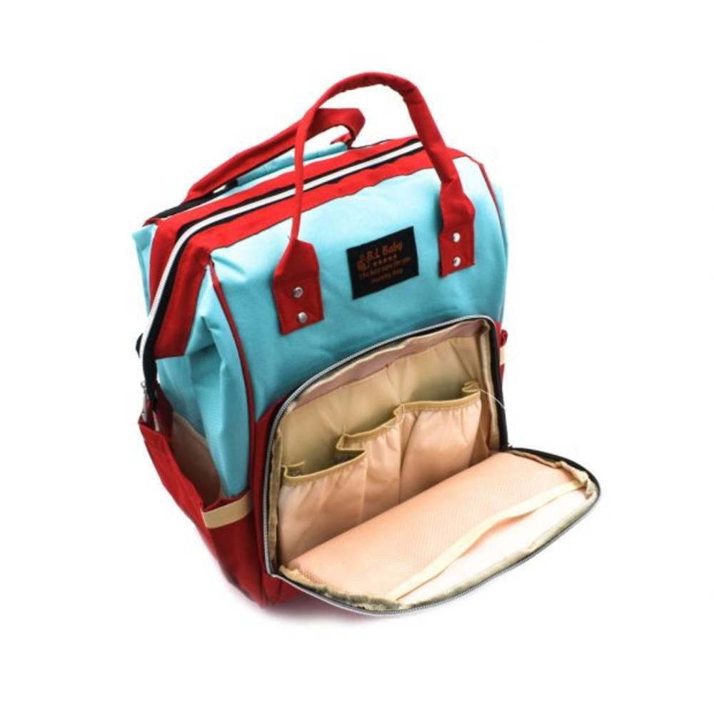 Τσάντα Μωρού Πλάτης Mommy Bag B.L. Baby – Κυανό Κόκκινο