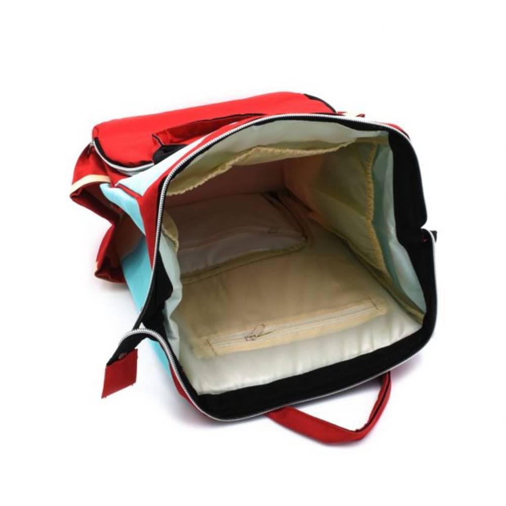 Τσάντα Μωρού Πλάτης Mommy Bag B.L. Baby – Κυανό Κόκκινο - Sfyri.gr - Ηλεκτρονικό Πολυκατάστημα