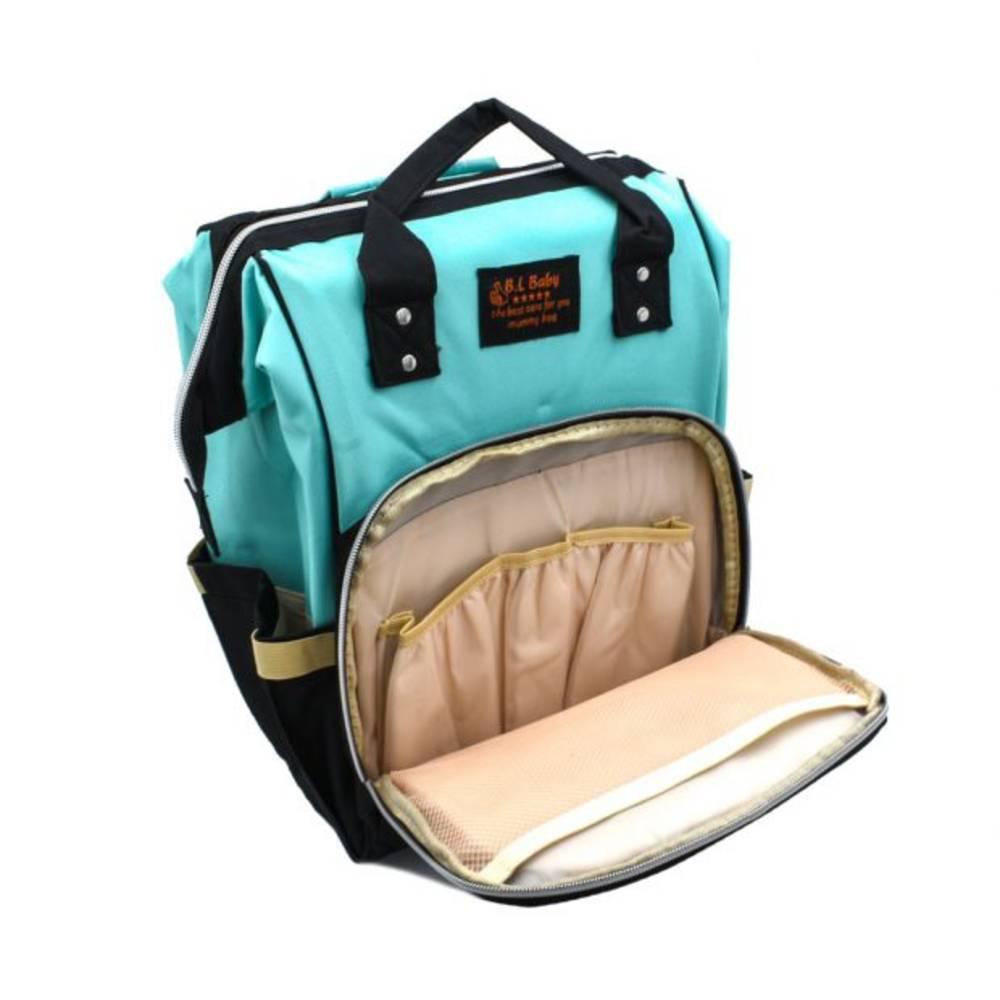 Τσάντα Μωρού Πλάτης Mommy Bag B.L. Baby – Κυανό Μαύρο