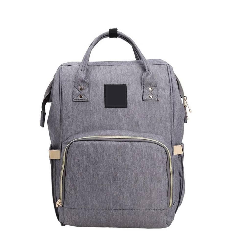 Τσάντα Μωρού Πλάτης Mommy Bag Pinganbaobei Γκρι