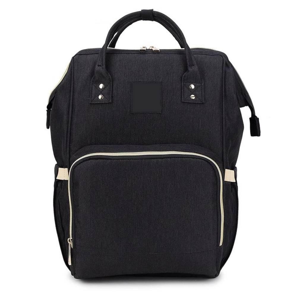 Τσάντα Μωρού Πλάτης Mommy Bag Pinganbaobei Μαύρο